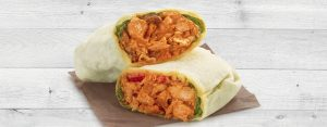 scan QR Code to order butter chicken wrap