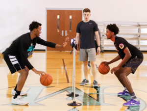 Basketball coaching by professionals